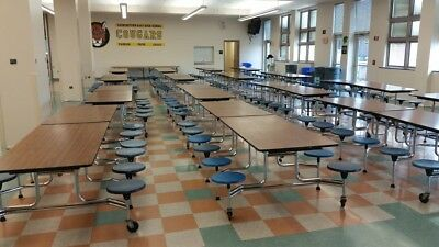 CLOSEOUT SURPLUS CAFETERIA lunchroom TABLES  - 12 FOR ONLY  1400. obo. CAN SHIP!