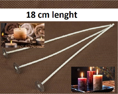 18 cm Quality! Pre Wicks For Candle With Sustainers Making Wax Quantiti