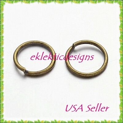 10mm 100pcs Antique Brass Bronze Jump Rings Jewelry Findings Open Split Earrings