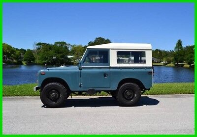 1970 Land Rover Series IIA 88 2286cc 4 cylinder engine, manual transmission, 4X4 1970 Land Rover Series IIA 88  2286cc 4 cylinder engine, manual transmission