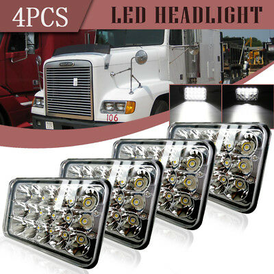 "4x6"" LED Headlights Sealed Beam VS HID Bulb For Peterbilt 357 378 379 Kenworth"