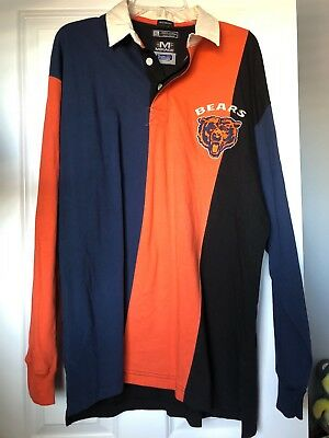 a076beeb112f4b Mens Vintage Mirage Chicago Bears Long Sleeve Shirt Size XL Logo Stripes