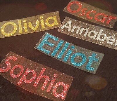 Personalised Name/Word GLITTER Iron On Transfer