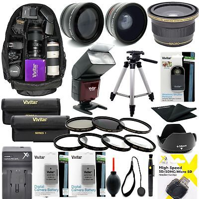 Accessory Kit For Nikon D3500 D5300 W AF-P DX18-55mm Lens TRIPOD BACKPACK LENSES