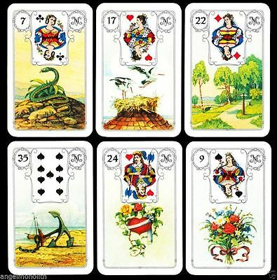 36 Mlle Lenormand Luxus Karten Deck Fortune Telling Cards Goldecken Bildorakel