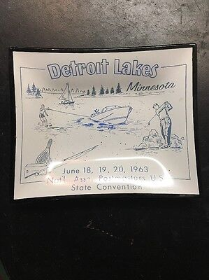 Detroit Lakes Minnesota ashtray Nat'l Assn postmasters us state convention 1963