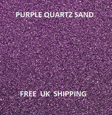 PURPLE Coloured Quartz Sand Artists Crafts Wedding Floristry Decor Aquarium