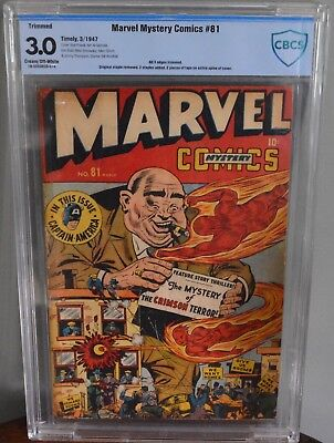 Cbcs 3.0 Marvel Mystery Comics #81 (Timely, 1947) Captain America/human Torch