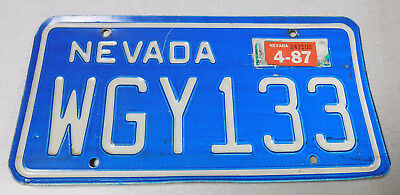 1987 Nevada passenger car license plate