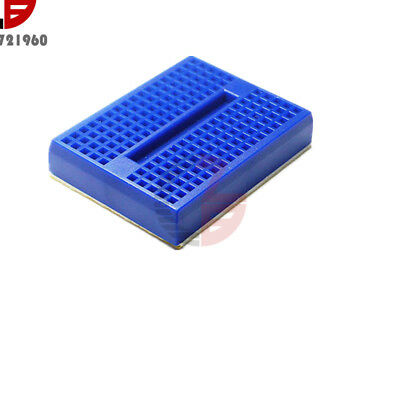 2Pcs Mini Blue Solderless Prototype Breadboard 170 Tie-points for Arduino Shield