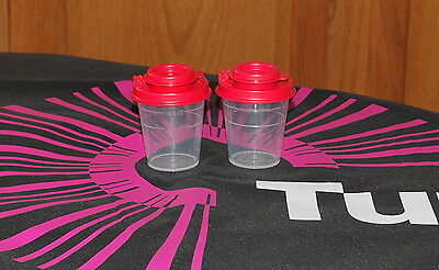 TUPPERWARE RED SALT AND PEPPER SHAKER SET OF 2 Midget NEW S&P BPA FREE SHIP