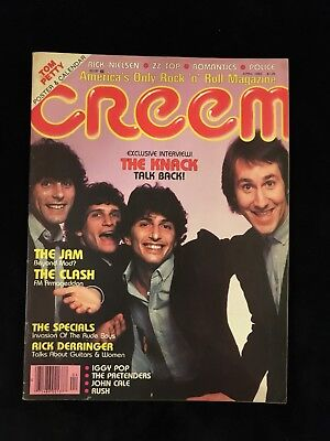 VINTAGE CREEM MAGAZINE-Iggy Pop-Rush-The Police-The Clash-Tom Petty Poster 1980