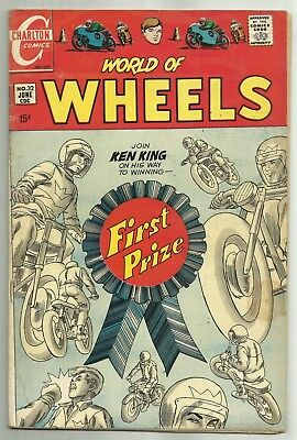 WORLD OF WHEELS #32 (NASCAR, Formula One & Motorcycle Racing) Charlton, 1970