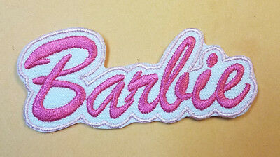 Barbie Name Logo Patch 3 inches wide