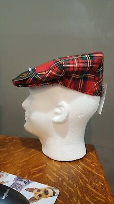 GLEN APPIN small SCOTLAND Plaid Worsted WOOL COUNTRY Driving Cap Hat ~ NEW cec93fae7c3e