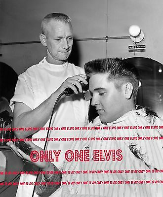 ELVIS PRESLEY in the Army 1958 8x10 Photo FORT CHAFFEE ARKANSAS - GI HAIRCUT