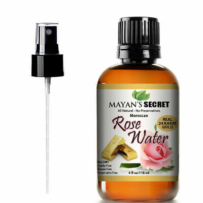 24k Gold Organic Rose Water|4oz |Chemical Free | Imported from Morocco|100%Pure