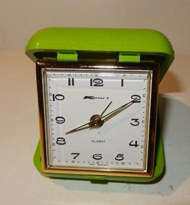 Vintage Lime Green Kmart Travel Alarm Clock / Made in Germany - Exc Condition