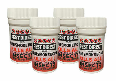 6 x Pest Direct Bed Bug Cockroach Killer Fogger House Room Smoke Fumers