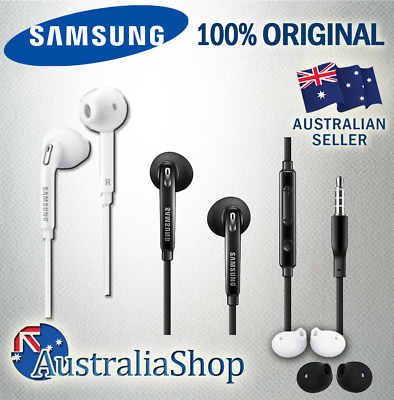 Original Genuine Samsung Galaxy S6 S7 S8 S5 PLUS Edge Note Earphones Remote Mic
