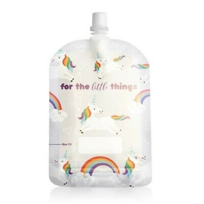 Sinchies 150ml Reusable Food Pouches Infant Baby Pouch 1/5/10 Pack Unicorns
