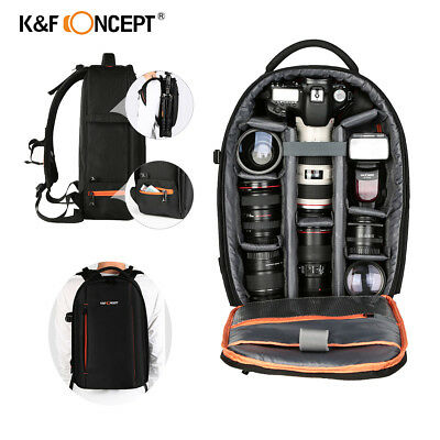K&F Concept DSLR Camera Backpack Bag Case for Canon Nikon Sony Laptop Waterproof
