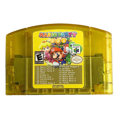 18 in 1 N64 Game Mario Party 3 2 1 Aggregation +15 NES For Nintendo Cartridge