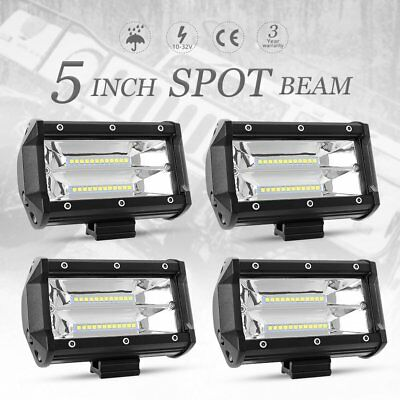 4x 5inch CREE LED Work Light Bar SPOT Beam Offroad Driving Lamp 4WD Truck SUV