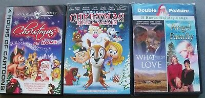 New Used 3 Christmas Is Here Again Angel in the Family Christmas at Home DVD