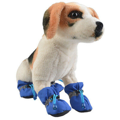 NEW 4PCS Pet Dog Waterproof Winter Warm Snowboot Rain Shoes Puppy Non-Slip Boots
