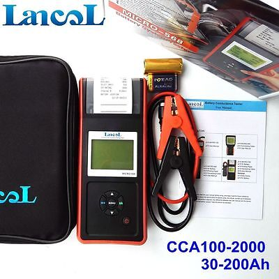 Digital Car Battery Load Tester 12V CCA Battery Analyzer Detector with Printer