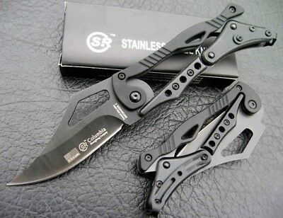 "Columbia 7.2"" Mechanical Folding Pocket Knife 440A Steel 57Hrc Full Blade"