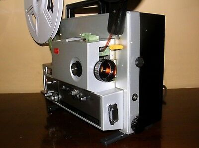ELMO ST-1200HD M 2-Track Super 8 Sound Movie Projector ~Serviced~