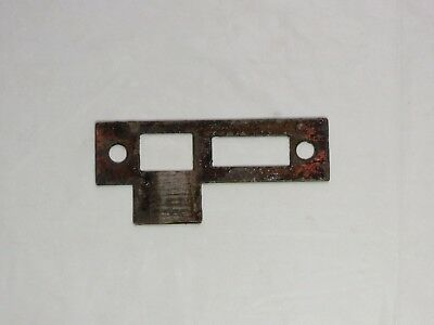Antique Copper plated patina Mortise door bolt lock latch strike plate 3 1/4""