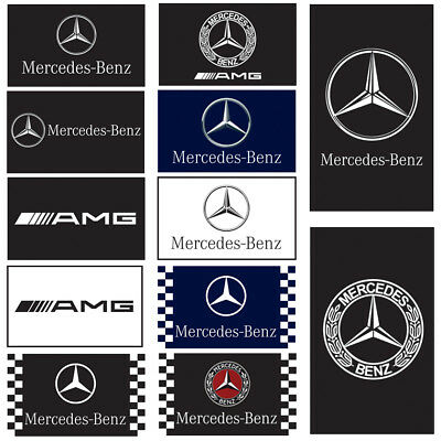 Mercedes Benz Flag For Racing AMG Car Banner Flags 3X5Ft Polyester Combinations