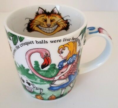 Alice in Wonderland Cup Mug Paul Cardew Cafe Cheshire Cat Red Queen Coffee 2010