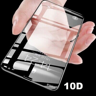 GENUINE Apple iPhone X 10 5D Full Coverage Tempered Glass Screen Guard Protector