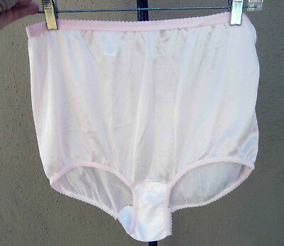 Vintage All Nylon Very Sheer Pink Panties 9 NWOT