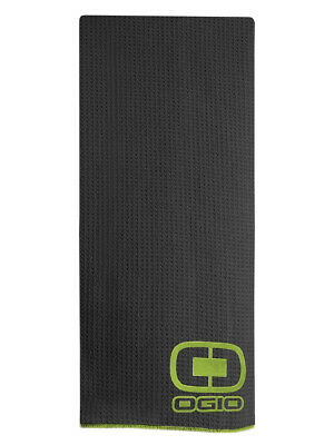 Ogio Tour Golf Towel - Black/Acid