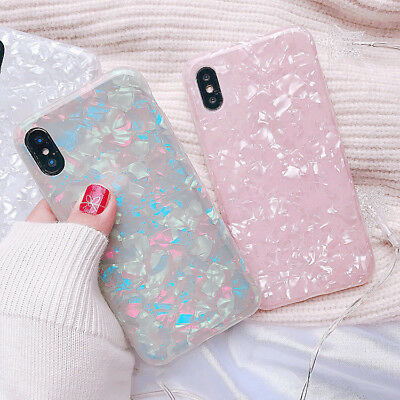 iPhone XS Max XR 8 7 6 Plus Case Cover Marble Shockproof Silicone Protective For