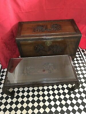 Camphor Wood Chest & Marching Table - Hong Kong 1940s/50s - Blanket Box, Storage