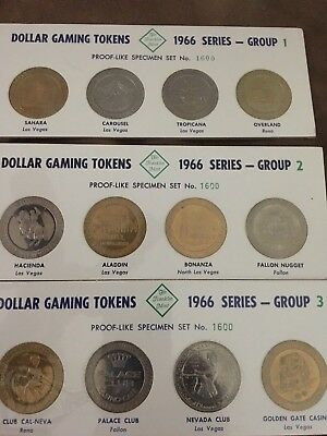 72 Dollar Gaming Tokens 1966 Series Franklin Mint Proof-Like Complete Set #1442