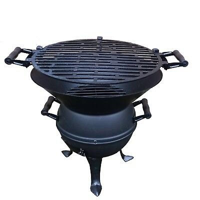 Grillfass aus Gusseisen Holzkohlegrill Kohlegrill Grill Stahl Gussgrill