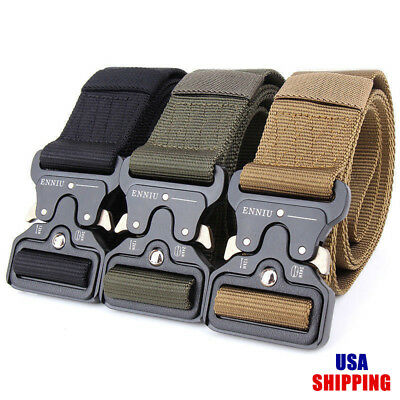 Lixada Tactical Quick Release Belt with Heavy Duty Buckle for Outdoor A3P8