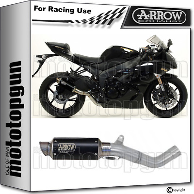 Arrow Kit Exhaust Race Gp2 Steel Black Kawasaki Zx-6R 2009 09 2010 10 2011 11
