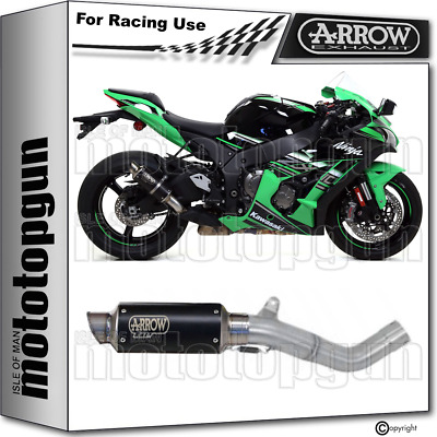 Arrow Kit Exhaust Nocat Race Gp2 Steel Black Kawasaki Zx-10R 2016 16 2017 17