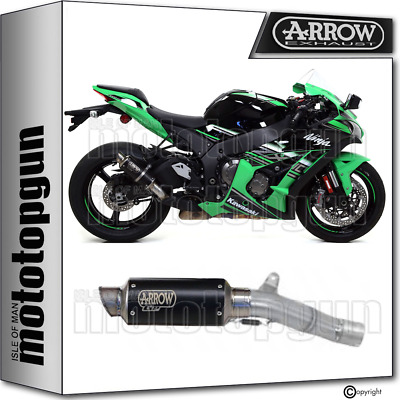 Arrow Kit Exhaust Homologated Gp2 Steel Black Kawasaki Zx-10R 2016 16 2017 17