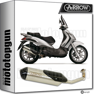 Arrow Full System Exhaust Homologated Reflex 2 Piaggio Beverly 250 2005 05