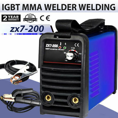 Welding Inverter Machine MMA/ARC Portable Welder Machine ZX7-200 DC In UK Stock