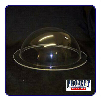 CLEAR PERSPEX ACRYLIC DOME 125mm Diameter with 20mm flange